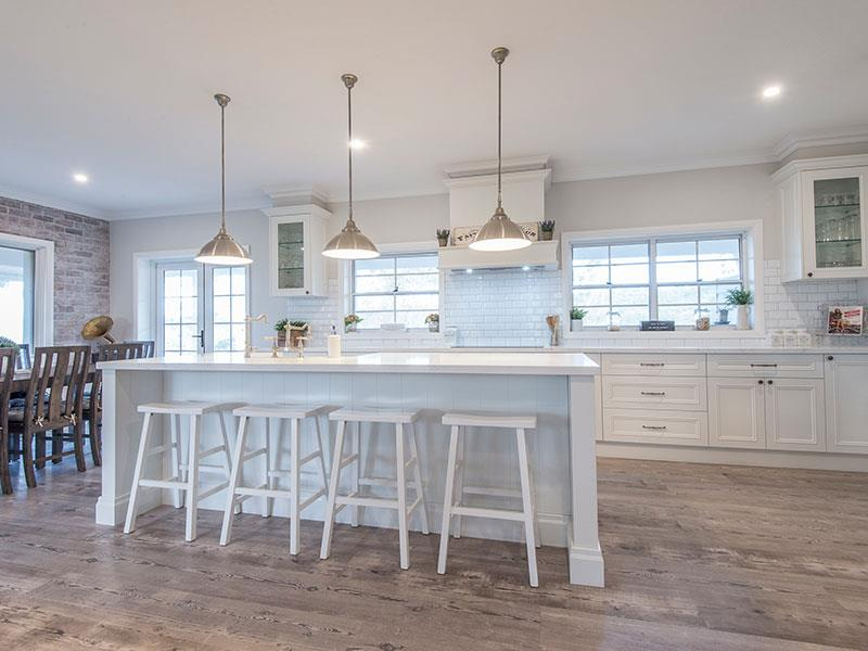 Highland Kitchens - Country cabinetry used for both kitchen and walk in pantry