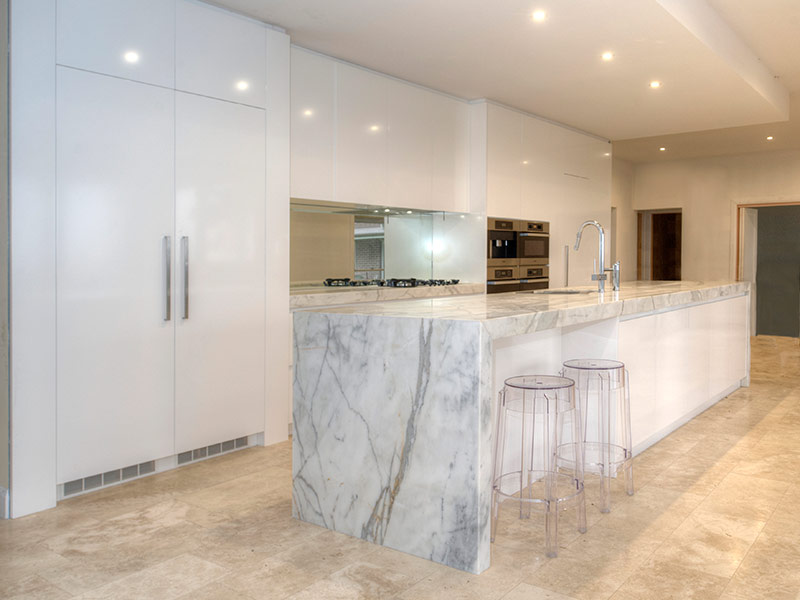 Highland Kitchens - Stylish use of marble in the Contemporary kitchen