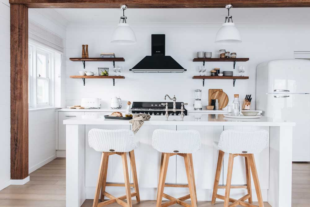 Highland Kitchens - Beachside Bliss in this Country / Coastal style kitchen